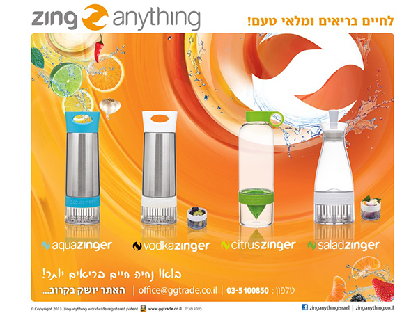 עמוד נחיתה. Zing Anything